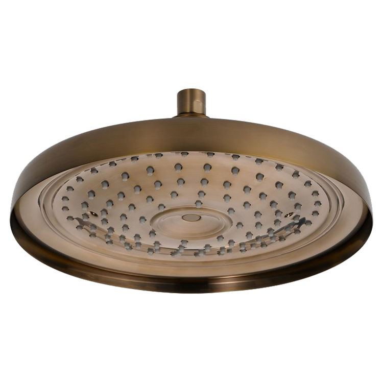 Brizo 83310-BZ Brushed Bronze Traditional Ceiling Mount Raincan Shower Head