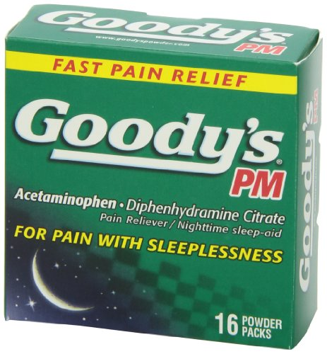 Goody's PM Pain Reliever/Nighttime Sleep-Aid, 16 ct