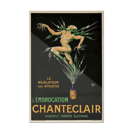 - Chanteclair (smaller format) Vintage Poster (artist: Mich) France c. 1917 (8x12 Acrylic Wall Art Gallery Quality)