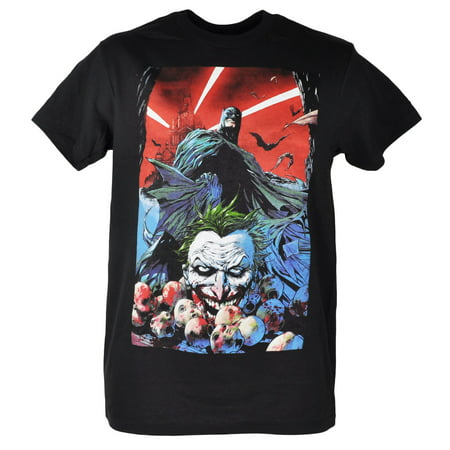 Joker Shirts (DC Comics Batman The Joker Baby Heads Graphic Superhero Black Tshirt Tee)
