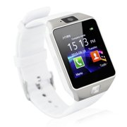 White Bluetooth Smart Wrist Watch Phone mate for Android Samsung HTC LG Touch Screen Blue Tooth SmartWatch with Camera for Adults for Kids (Supports [does not include] SIM+MEMORY CARD) DZ09