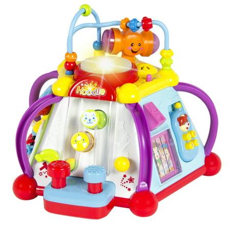 Activité Bébé Jouet Musical Cube Play Center avec lumière, 15 Fonctions et compétences