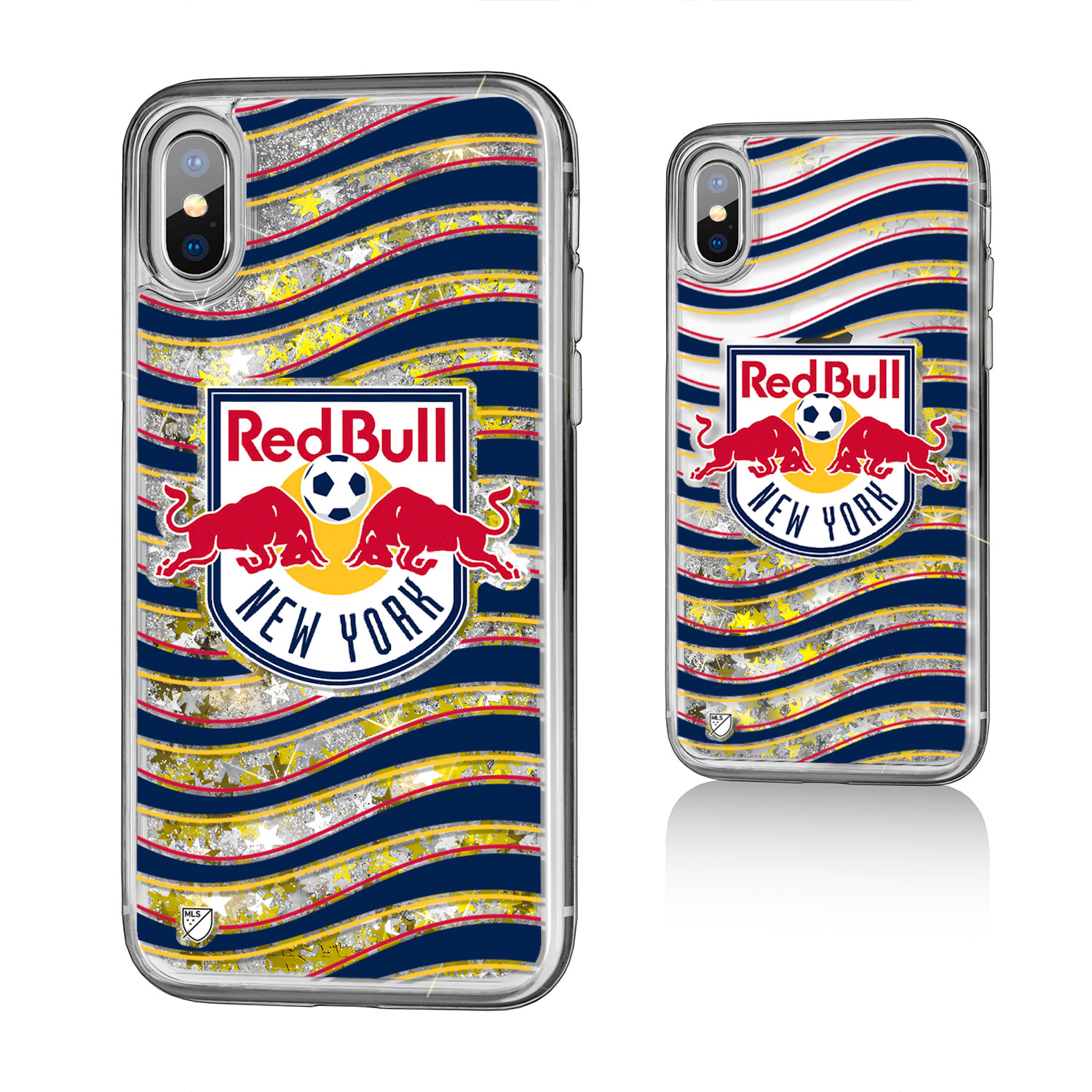 New York Red Bulls RED BULLS Wave Glitter Case for iPhone X