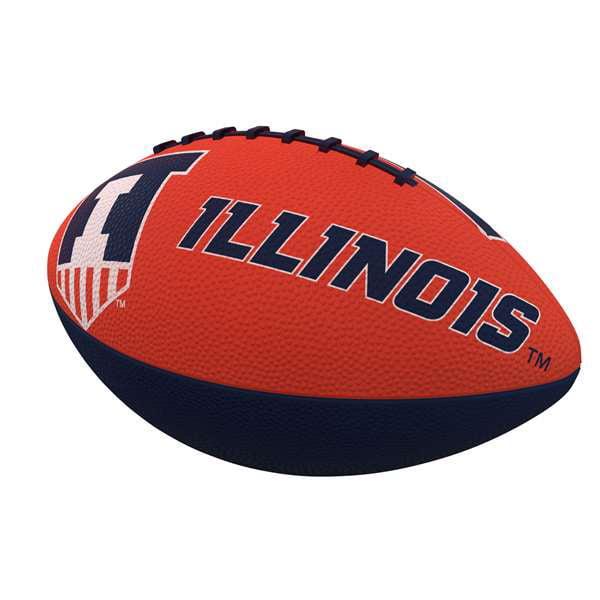 Illinois Combo Logo Junior-Size Rubber Football