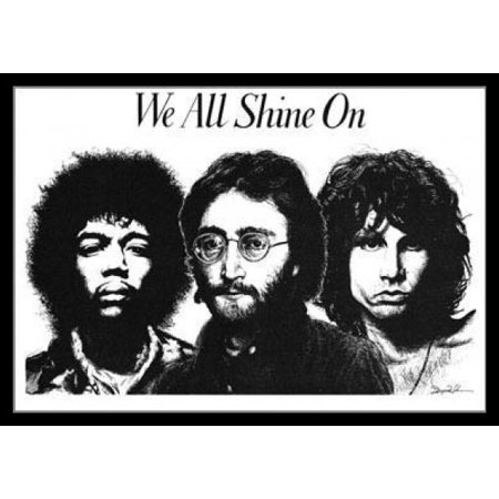 We All Shine On Rock Collage Poster Poster Print