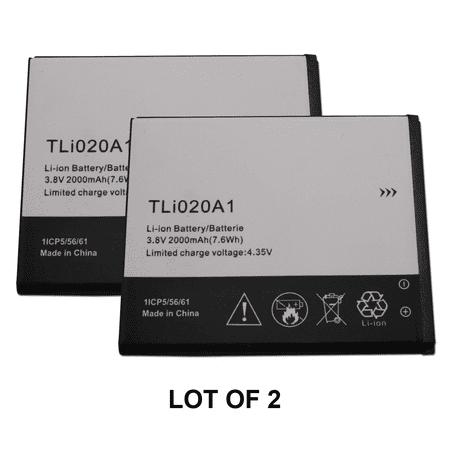 Generic Replacement 2x Alcatel Battery TLi020A1 For Alcatel One Touch Pop C7 OT-7040 OT-7040D, POP S3, POP Star OT-A845L 2000mAh --Brand NEW in Non-Retail