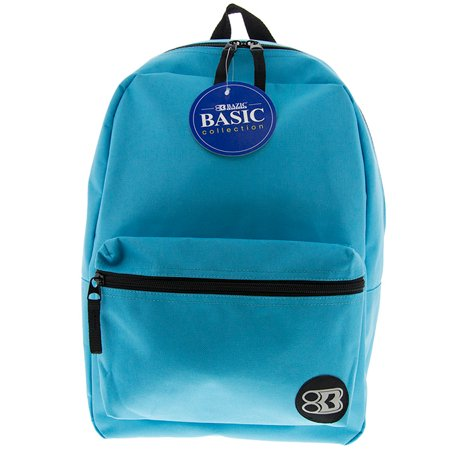 New 401322   16 Inch Cyan Basic Backpack (12-Pack) Office Supply Cheap Wholesale Discount Bulk Stationery Office Supply River Stones - Backpacks Cheap Bulk
