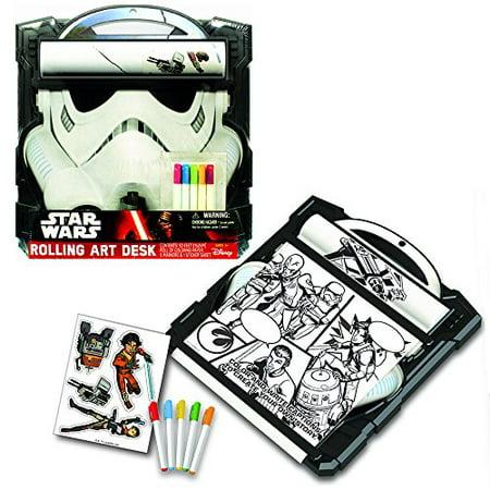 Star Wars Storm Trooper Rolling Art Desk Play Set