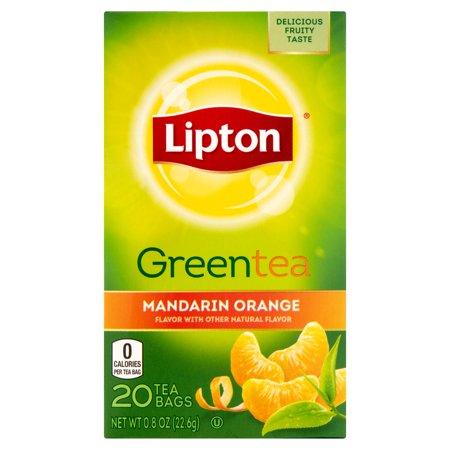 Lipton Sacs Mandarine de thé vert, 20 count