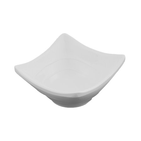 Unique Bargains Household White Plastic Square Shape Sushi Sauce Soy Dish Bowl - Plastic Trifle Dish