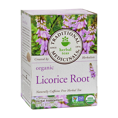 Traditional Medicinals Caffeine Free Organic Licorice Root Herbal Tea Bags - 16 Ea