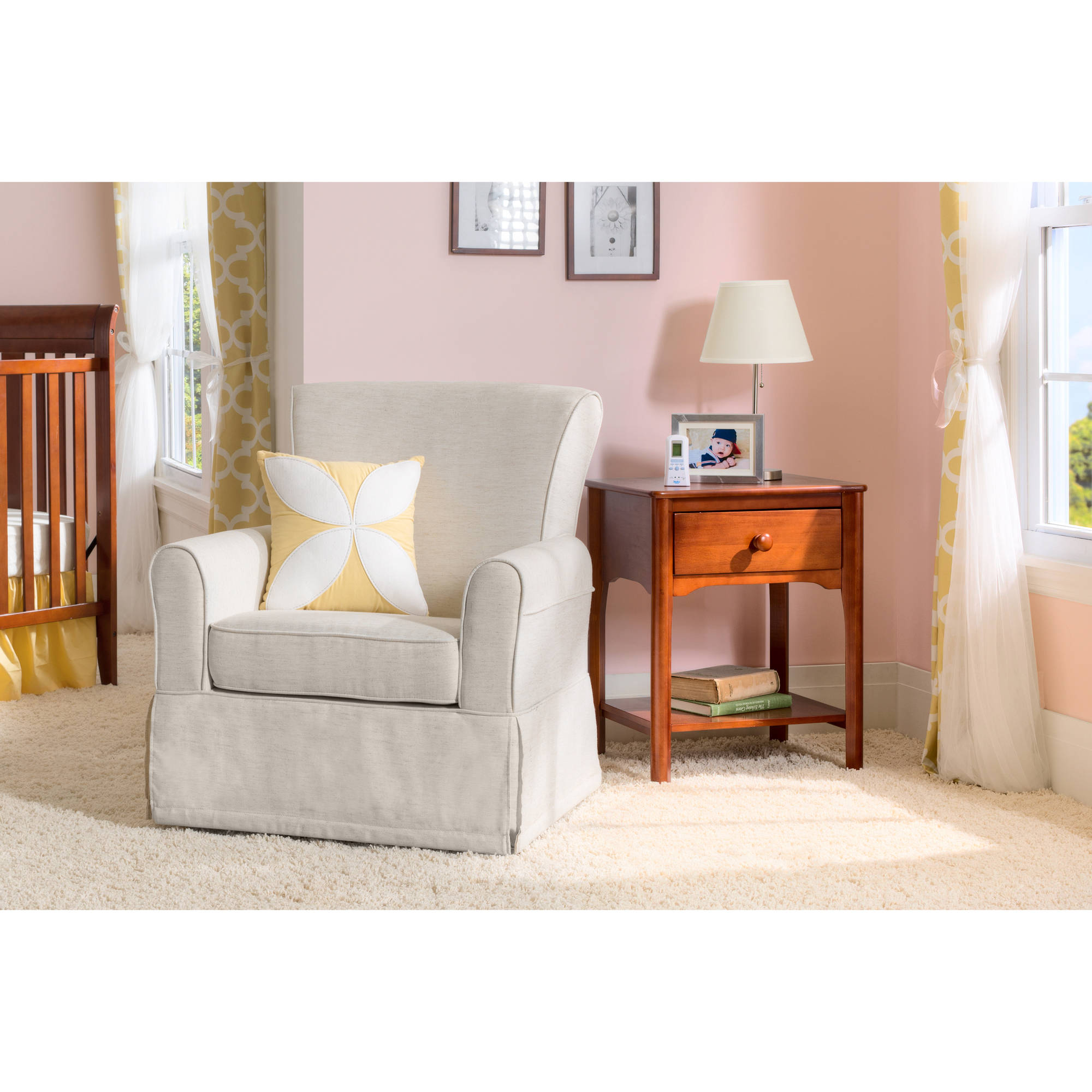 Delta Children Epic Nursery Glider Swivel Rocker Chair, Sand by Delta Children