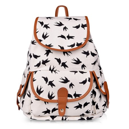 Canvas Casual backpack, Vbiger Men and Women's Canvas Fashion Backpacks Casual Purse School Travel Multipurpose