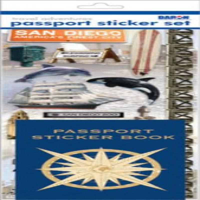 Passport or Scrapbooking Sticker Set-Alaska Daron Toys