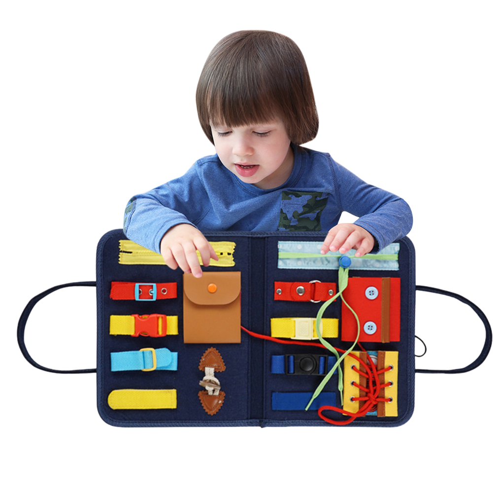 Toddler Play Board For Kids Educational Activity Board Sensory Montessori Toy