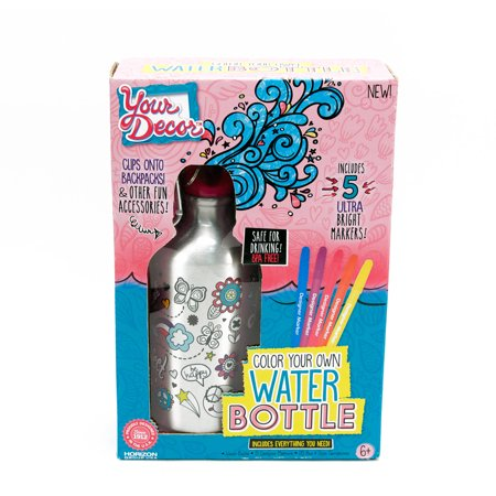 your decor water bottle decorating activity kit by horizon