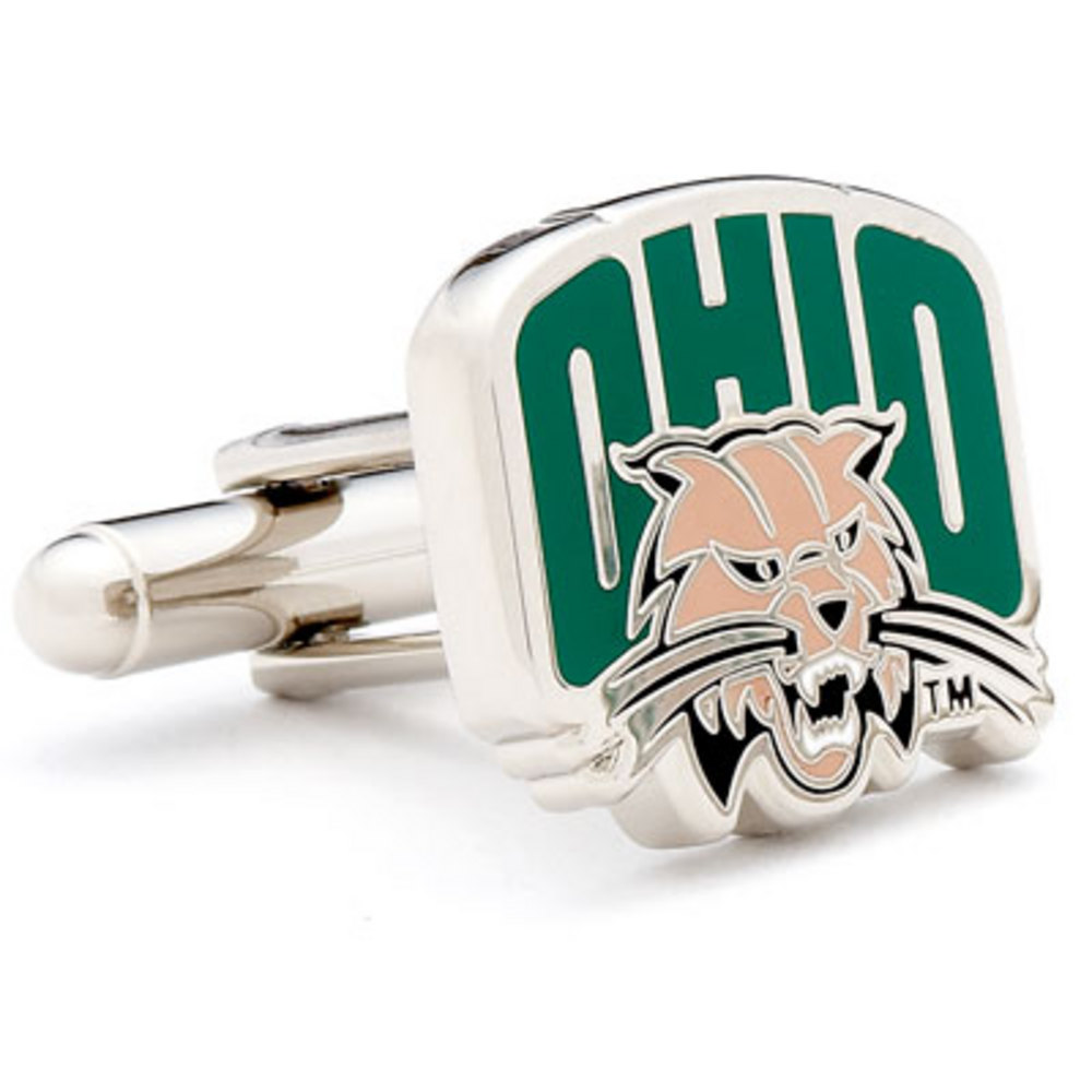 Silver Plated Ohio University Bobcats Cufflinks