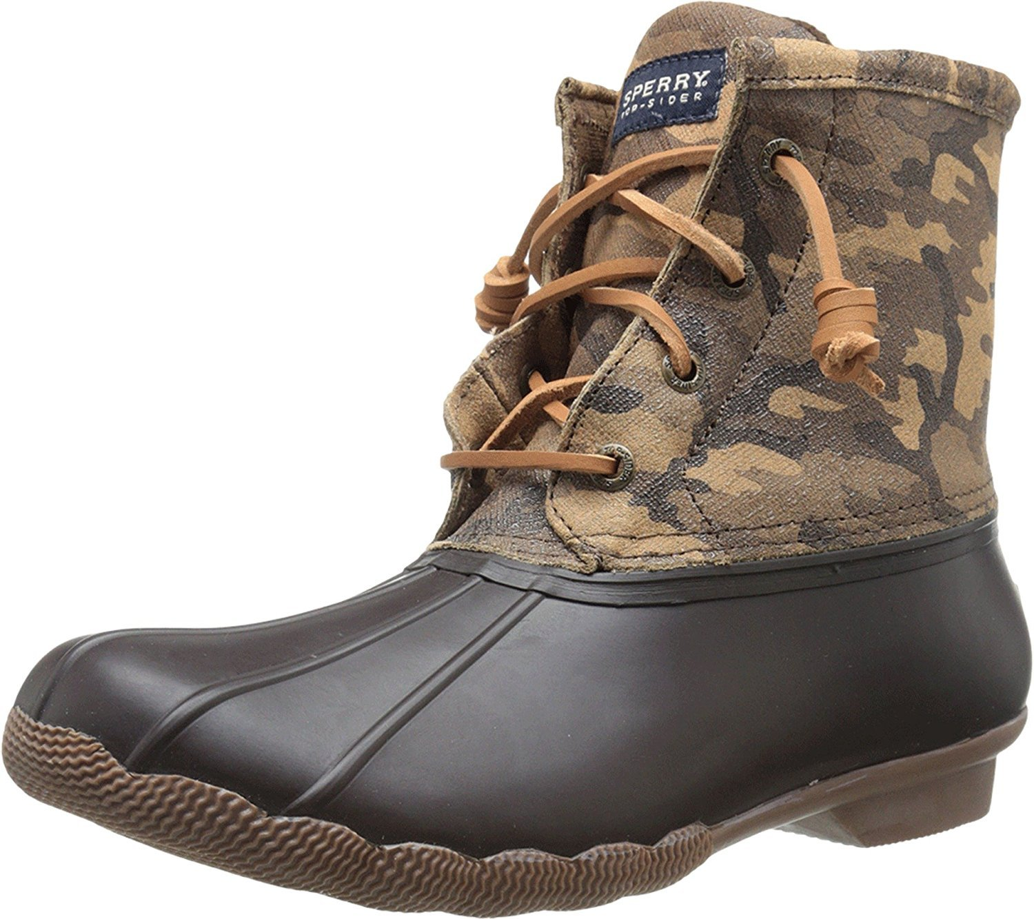 Sperry Top-Sider Womens Saltwater Novelty Brown Camo Boot 12 M (B)