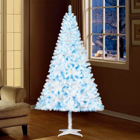 holiday time 65ft pre lit madison pine artificial christmas tree with 350 blue lights