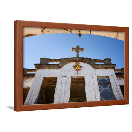 Low angle view of Haunted Diplomat Hotel, Baguio City, Luzon, Philippines Framed Print Wall Art (Haunted Hotels In Houston For Halloween)