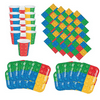 Building Blocks Birthday Party Pack: 16 Plates, Napkins, Cups, Lego-Type Party Supplies