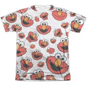 Sesame Street Elmo Face Pattern (Front Back Print) Mens Sublimation Shirt by
