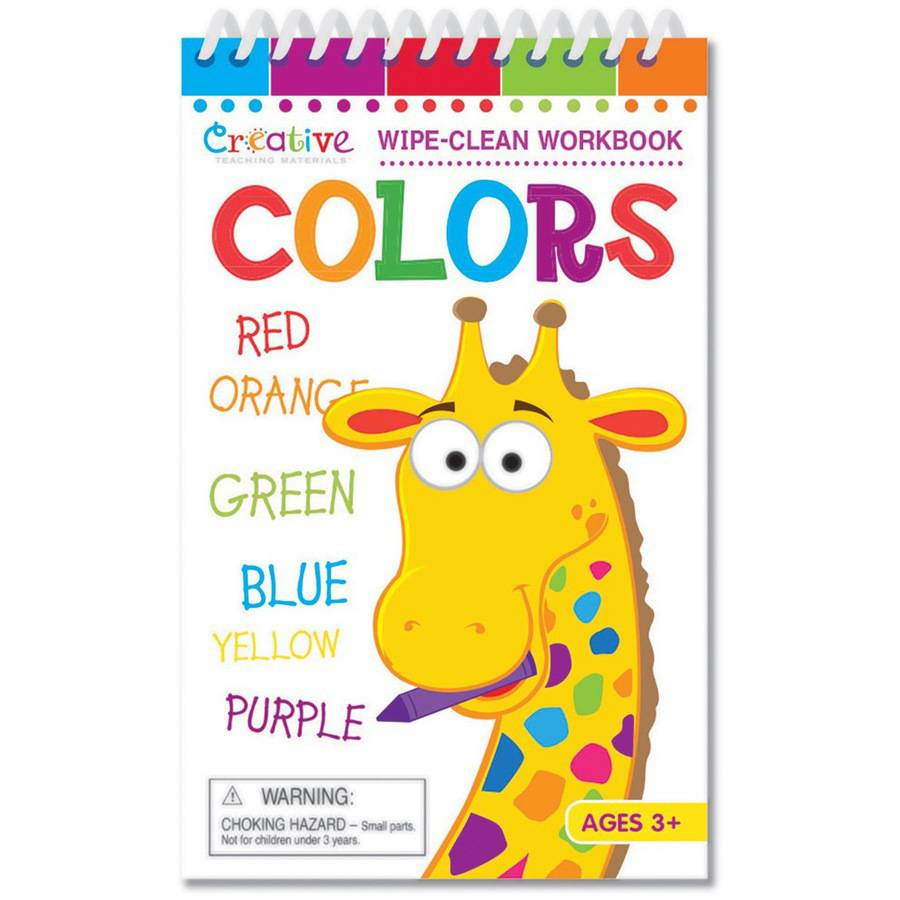 Creative Teaching Materials Wipe-Clean Workbook with Marker, Colors