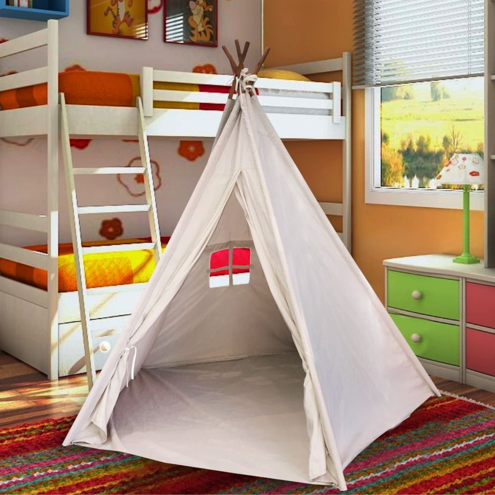 Best Selling Indoor TeePee Tent u2013 70  Tall Kids Classic Indian Play Tent with 5 & Indoor Tents