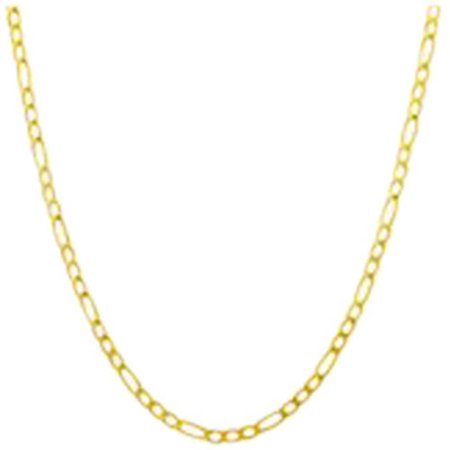 Simply Gold 10Kt Yellow Gold Figaro Chain  18
