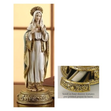 Pack of 2  Heavenly Protectors Immaculate Heart of Mary Figures