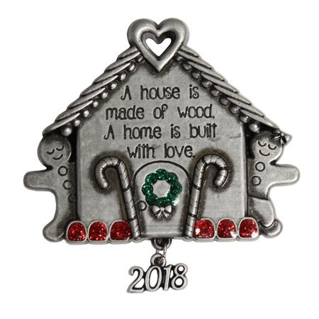 Pewter Gingerbread House - Gingerbread Ornaments