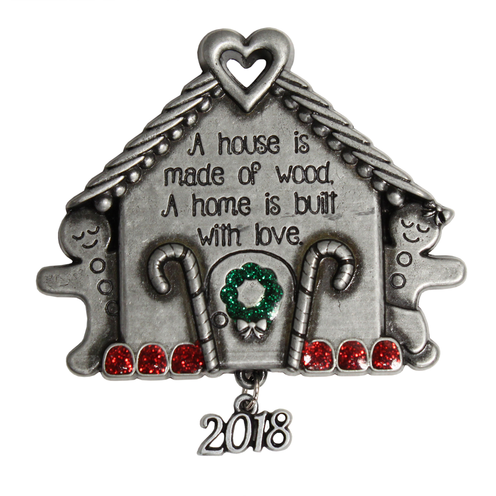 Pewter Gingerbread House Ornament