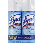 Lysol Disinfectant Spray, Crisp Linen Scent, Twin Pack, 2 x 12.5 Ounce