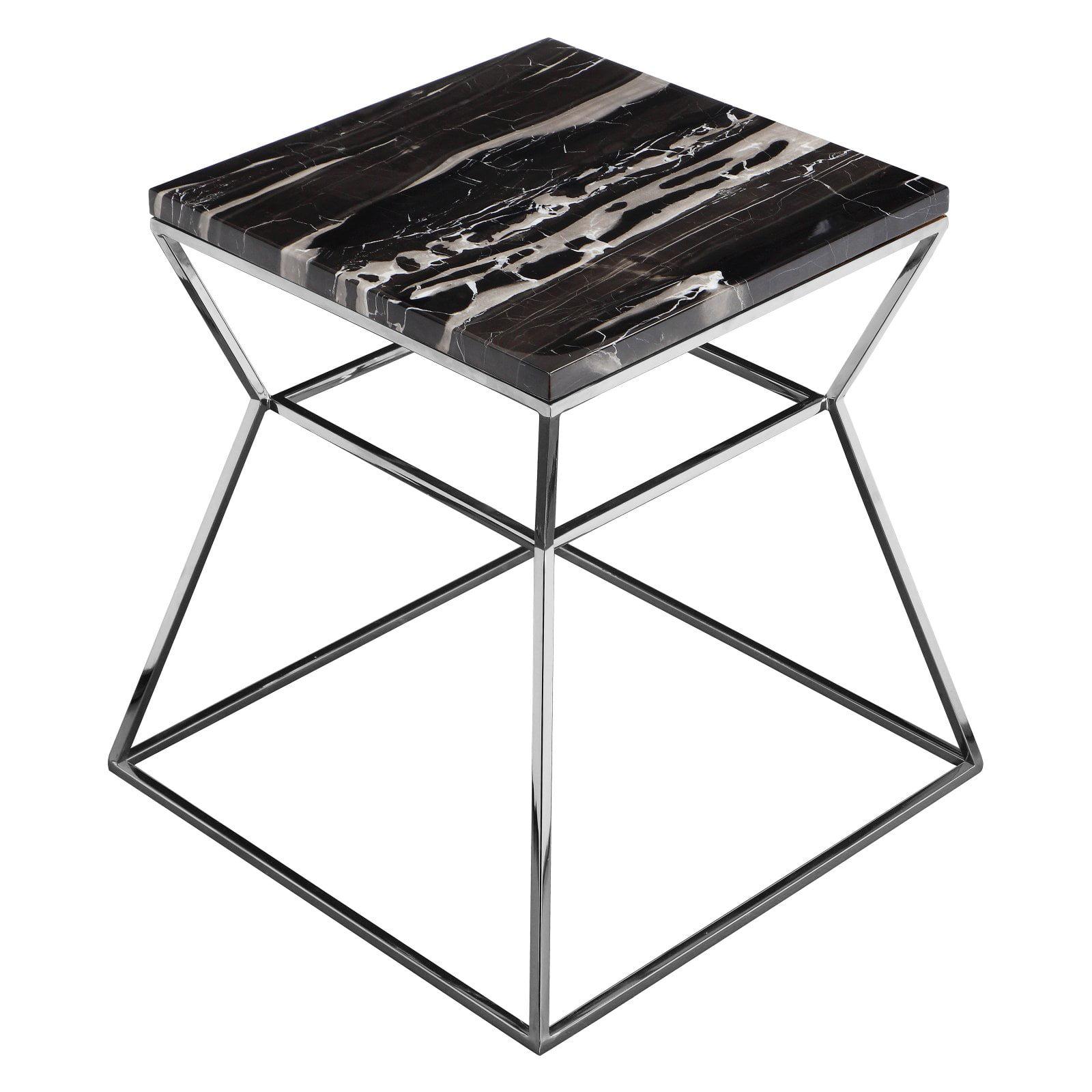 Pangea Home Prism Metal Frame Side Table