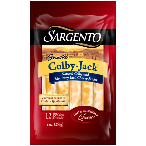 Sargento Snacks Colby-Jack Cheese Sticks, 12 count, 9 oz