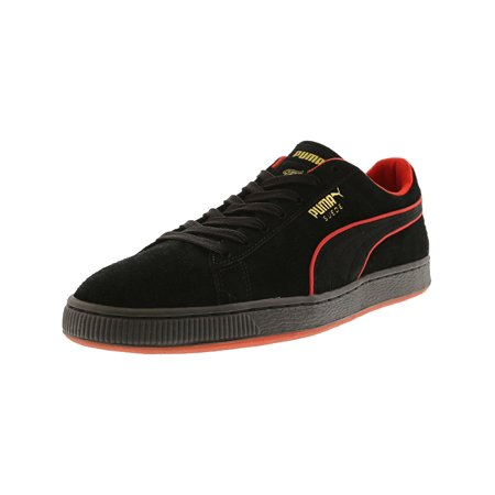 premium selection d1814 43dd4 Puma Men's Suede Classic X Fubu Black / High Risk Red Ankle-High Fashion  Sneaker - 11M