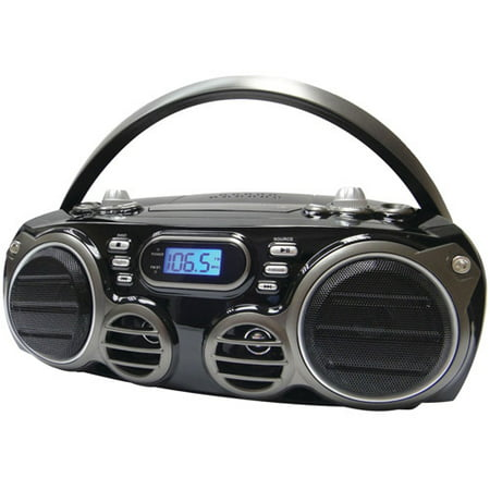 Sylvania SRCD682BT Bluetooth Portable CD Radio Boom Box with AM/FM Radio ()