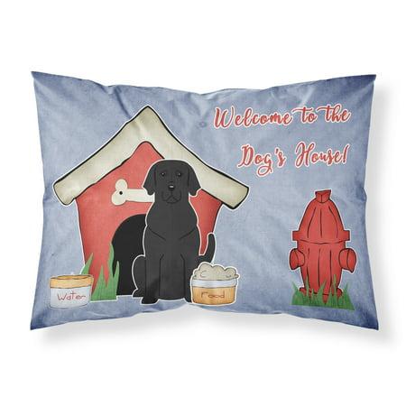 Dog Pillowcase (Dog House Collection Black Labrador Fabric Standard Pillowcase BB2811PILLOWCASE)