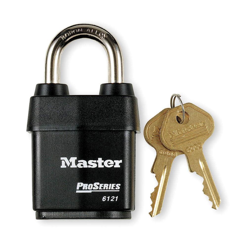 """Keyed Padlock,Alike,2-1/8""""W MASTER LOCK 6121KA"""
