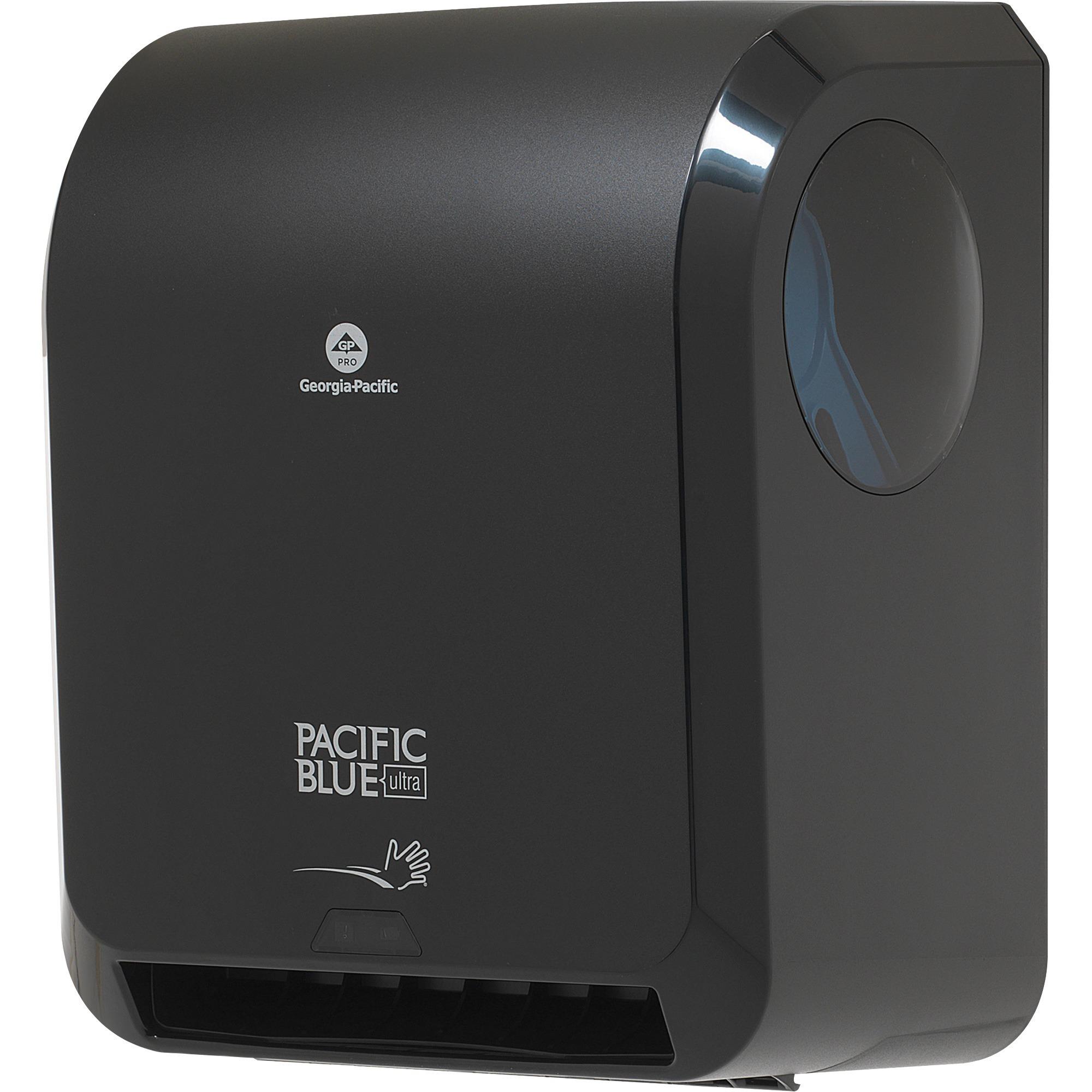 Georgia-Pacific Pacific Blue Ultra Automated Paper Towel Dispenser, 59590, 12.9 x 9 x 16.8, Black