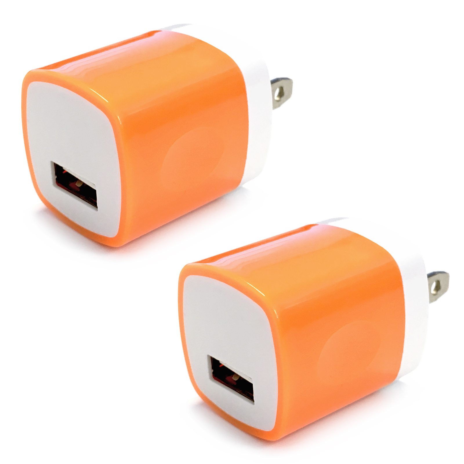 2x USB Wall Charger, Charger Adapter, FREEDOMTECH 1Amp Single Port Quick Charger Plug Cube for iPhone 7/6S/6S Plus/6 Plus/6/5S/5, Samsung Galaxy S7/S6/S5 Edge, LG, HTC, Huawei, Moto, Kindle and More