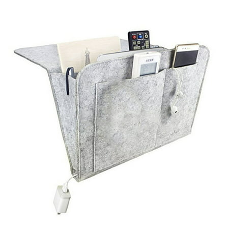 Forzero Felt bedside table storage box, bedside storage bag, used for tablet computers, magazines, telephones, glasses, remote control, small objects to save space