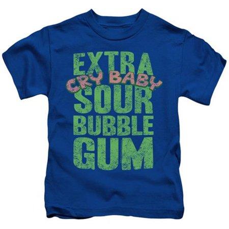 Trevco Dubble Bubble-Extra Sour - Short Sleeve Juvenile 18-1 Tee - Royal, Medium 5-6 - Purple Sour