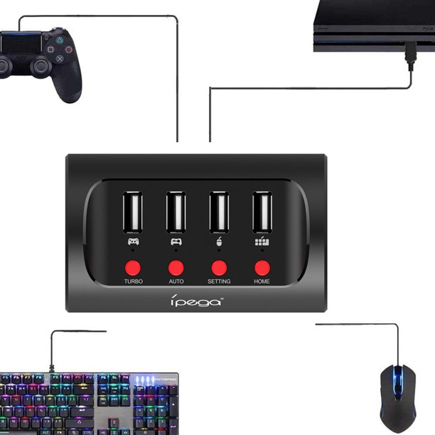Delta Essentials Keyboard And Mouse Adapter For Ps4 Xbox One Nintendo Switch Walmart Com Walmart Com