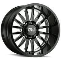 "Cali Off-Road 9110 Summit 20x10 8x6.5"" -25mm Black/Milled Wheel Rim 20"" Inch"
