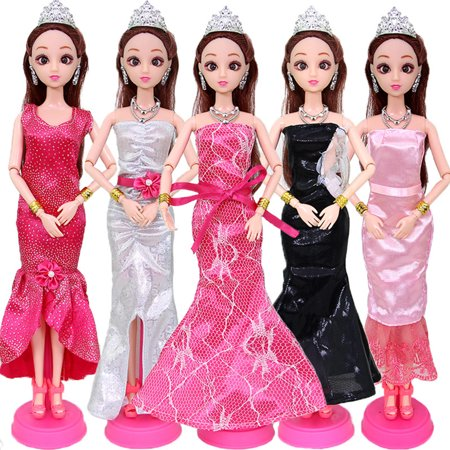 5pcs/Set Exquisite Dress Skirt Wedding Dress Formal Casual Clothes Set for  30CM Doll Perfect Doll Accessories