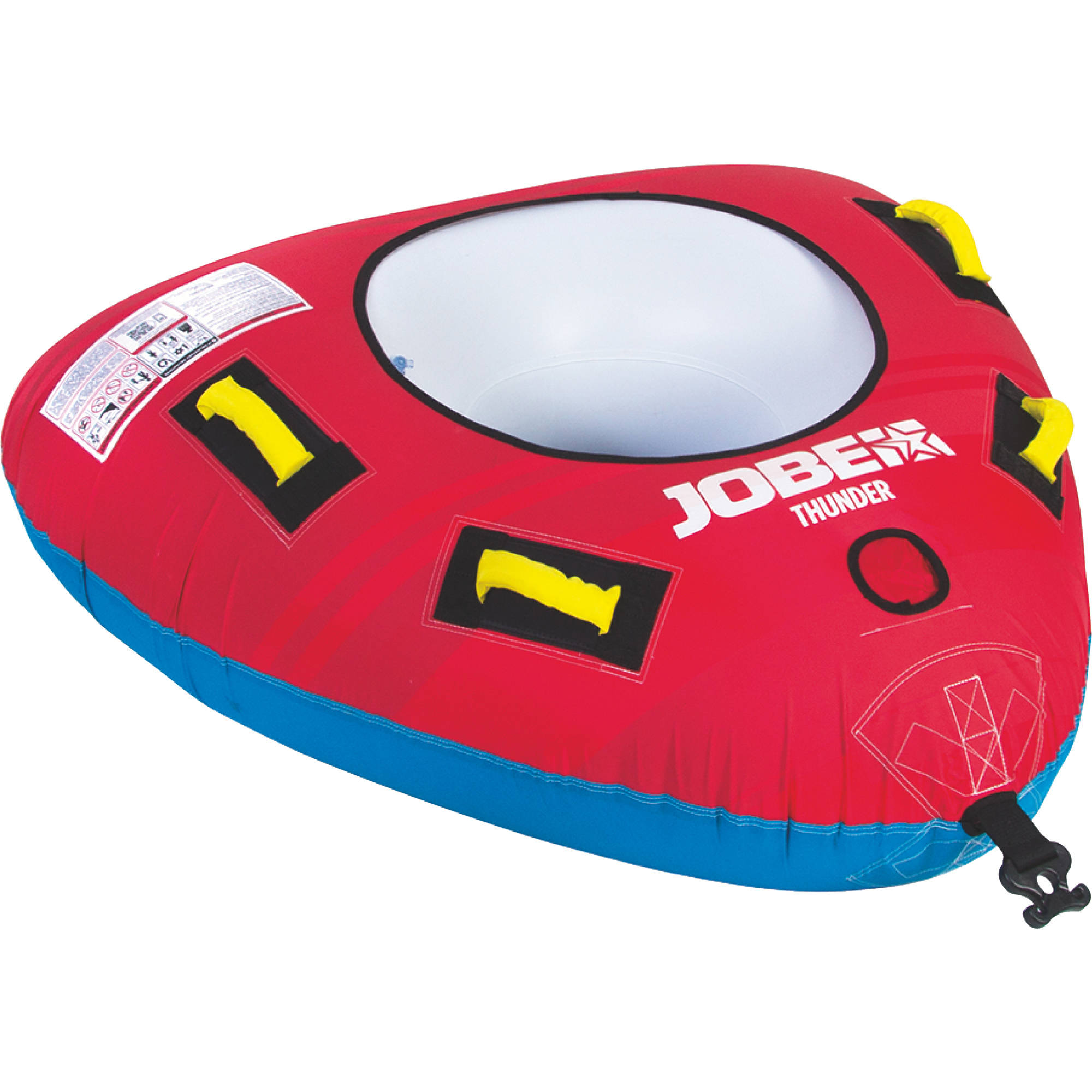 Jobe 230117004 Thunder 1 Person Open Top Triangle Inflatable Towable
