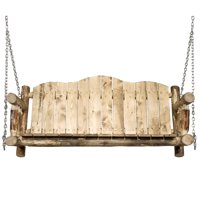 Glacier Country Collection Porch Swing, Exterior Stain Finish