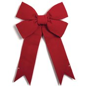 Autograph Foliages P-131485 35 x 24 inch Velvet Bow, Red