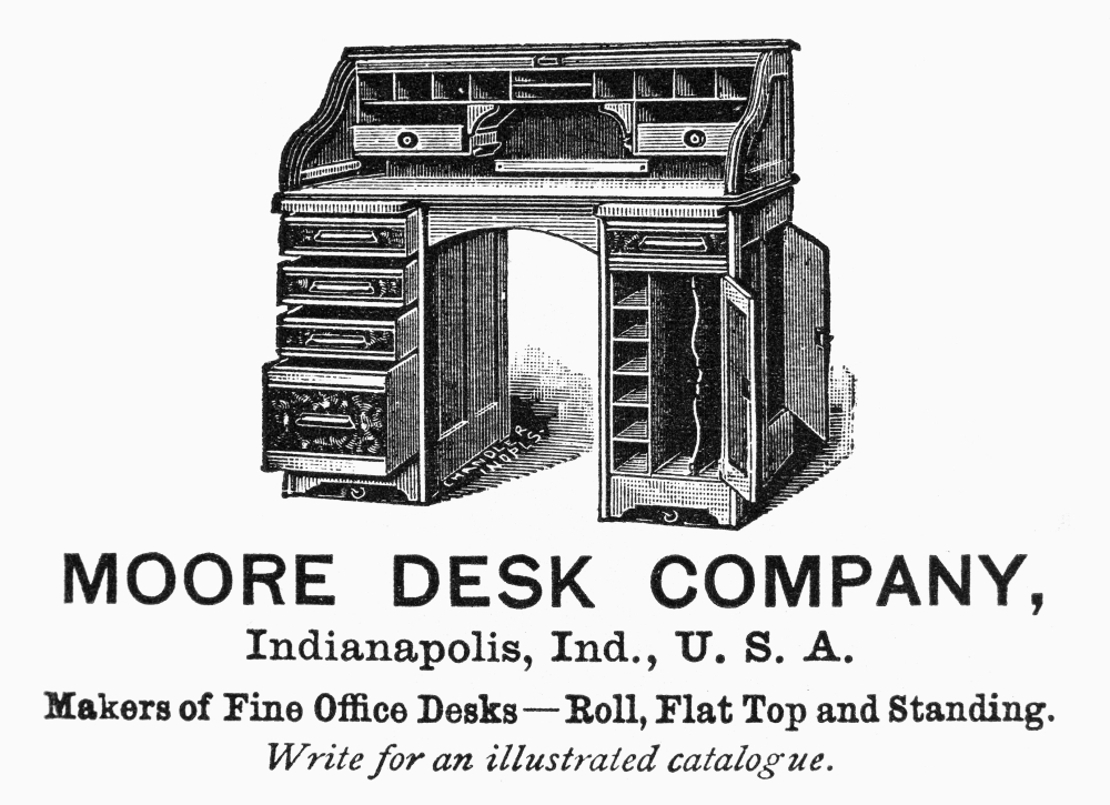 Office Desk Ad 1890 Namerican Magazine Advertisement 1890 For Office Desks  Manufactured By The Moore Desk